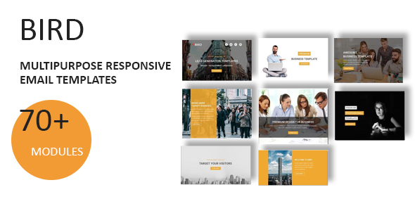 Plus - Multipurpose Responsive Email Template with Stampready Builder - 1