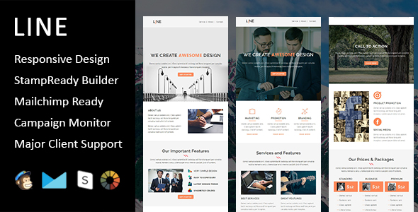 Emaily - Multipurpose Responsive Email Template With Online StampReady Builder Access - 3